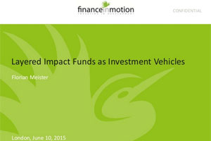 Layered Impact Funds as Investment Vehicles – Florian Meister, Finance In Motion