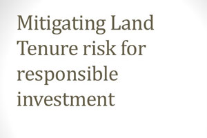 Mitigating Land Tenure Risk for Responsible Investment